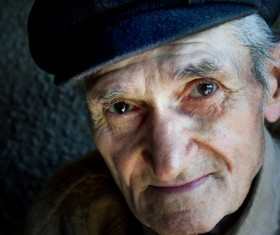 Close-up picture elderly man Stock Photo