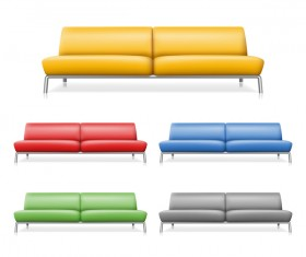 Colored sofa illustration vector 02
