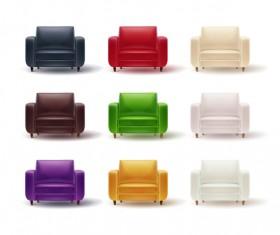 Colored sofa illustration vector 03