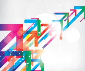 Colorful arrow abstract background vector