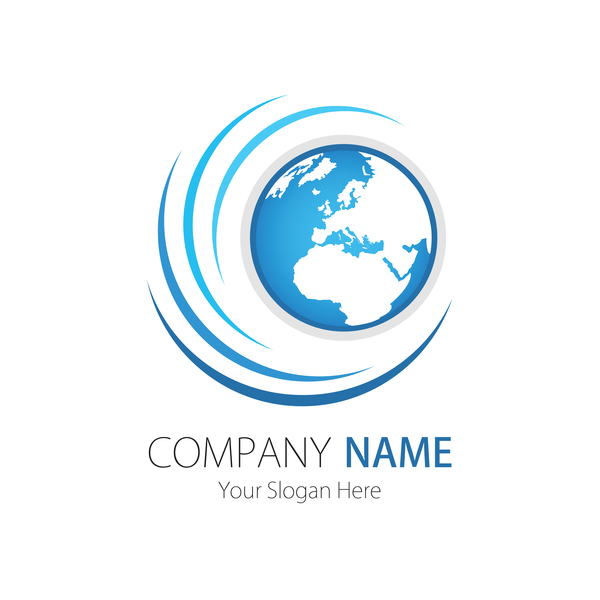 Company logo with earth vector