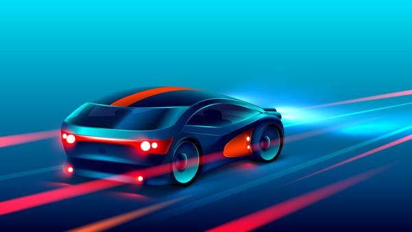 Concept sport car design vector
