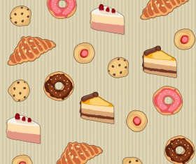 Cookies Donuts Pretzels Breads and Cakes Vector