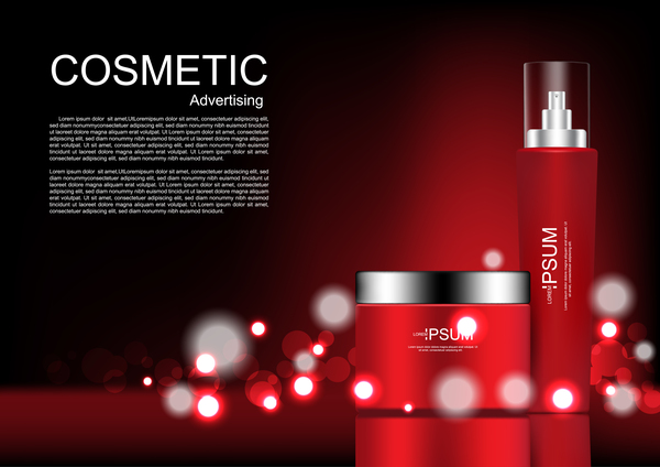 Cosmetic advertsing with dark background 01