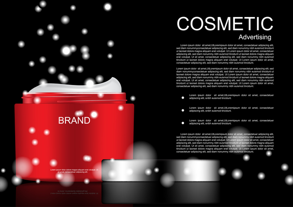 Cosmetic advertsing with dark background 03