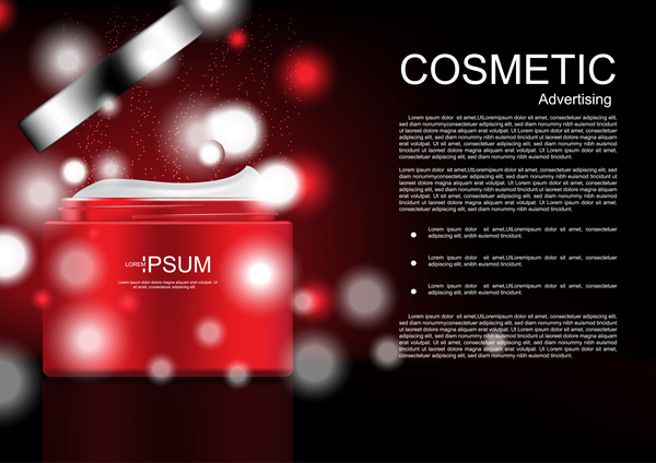 Cosmetic advertsing with dark background 04