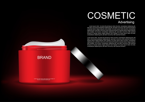 Cosmetic advertsing with dark background 06