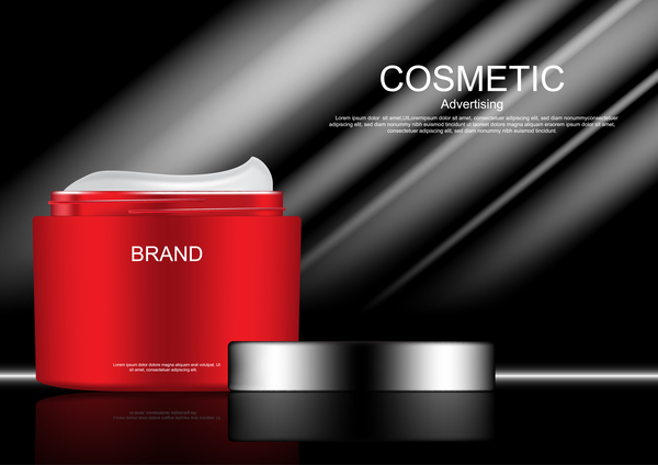 Cosmetic advertsing with dark background 07