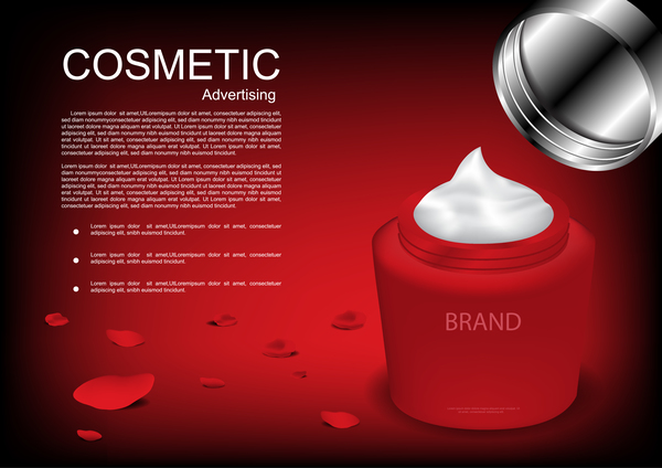 Cosmetic advertsing with dark background 08