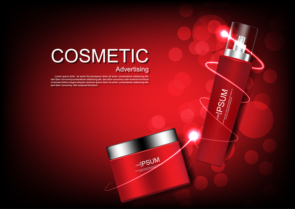Cosmetic advertsing with dark background 10
