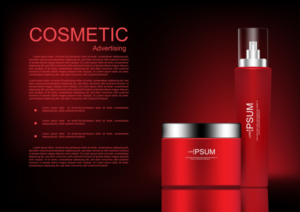 Cosmetic advertsing with dark background 11