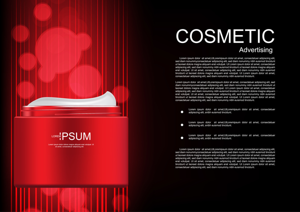Cosmetic advertsing with dark background 13