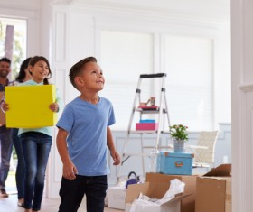 Couple Moving Into New Home Together Stock Photo 04