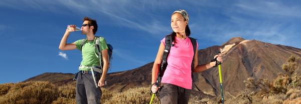 Couple hikers Stock Photo 01