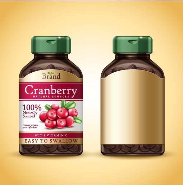 Cranberry blank packages vectors