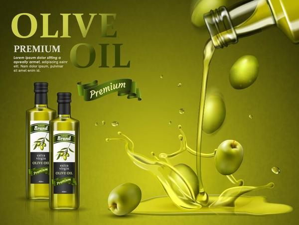 Creative olive oil poster design vector 02