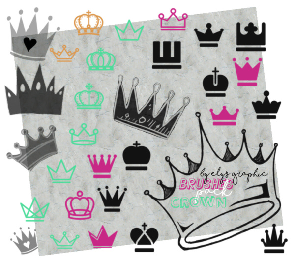Crown Photoshop Brushes set