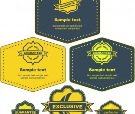 Dark blue with yellow labels retro vector