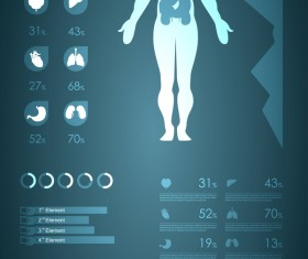 Dark color medical infgraphic elements vector 14