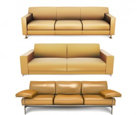 Dark yellow sofa illustration vector