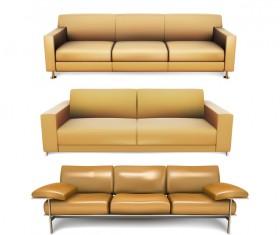 Dark yellow sofa illustration vector