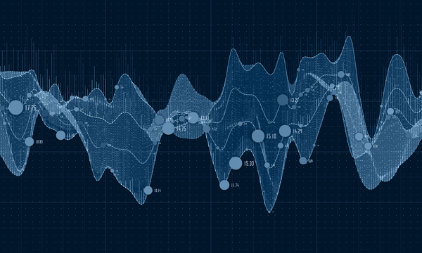 Data curve graphs vector template 02