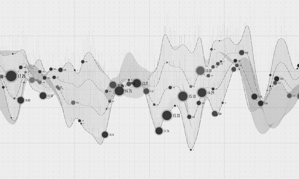 Data curve graphs vector template 05
