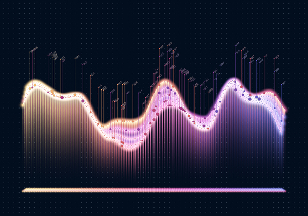 Data curve graphs vector template 06