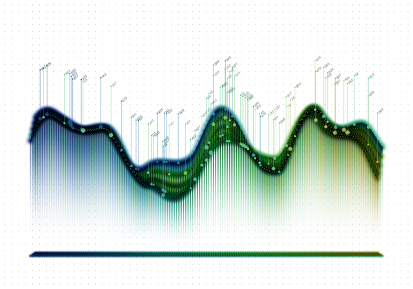 Data curve graphs vector template 07