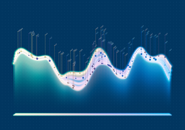 Data curve graphs vector template 08