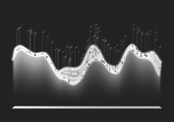 Data curve graphs vector template 10