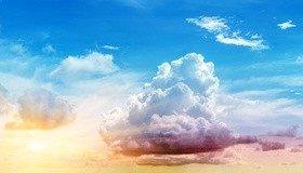 Delicate thin clouds HD picture