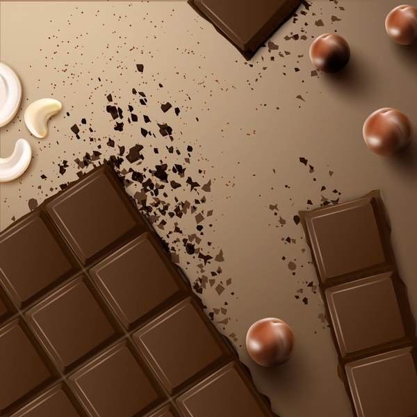 Delicious chocolate vector material