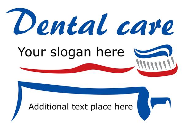 Dental care logo design vector material