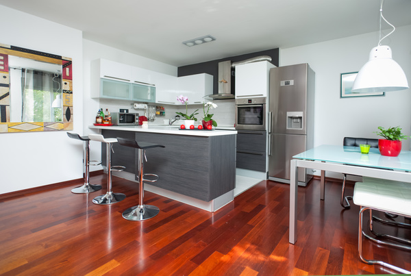 Different styles of decoration of the kitchen stock photo for Different kitchen design styles