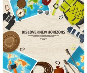Discover new horizons travel vector