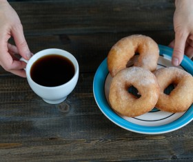 Donuts and coffee HD picture