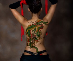 Dragon back tattoo HD picture