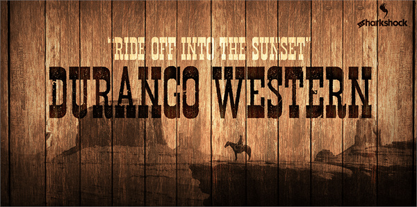 Durango Western Eroded fonts