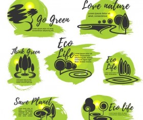 Eco life logos design vector
