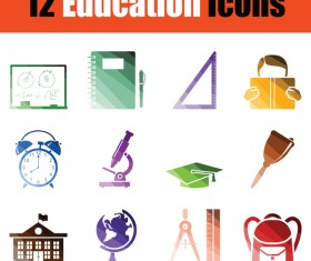 Education icons vector set 01