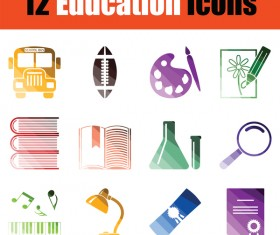 Education icons vector set 02