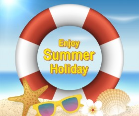 Enjoy summer holiday vector background
