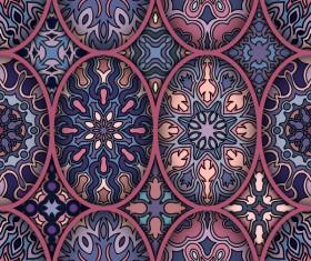 Fabric pattern ethnic vintage styles vectors 02