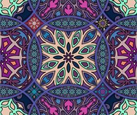 Fabric pattern ethnic vintage styles vectors 03