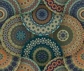 Fabric pattern ethnic vintage styles vectors 04