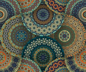 Fabric pattern ethnic vintage styles vectors 10