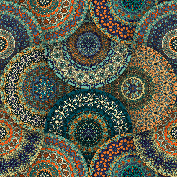 fabric pattern ethnic vintage styles vectors 10 free download