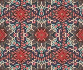 Fabric pattern ethnic vintage styles vectors 09