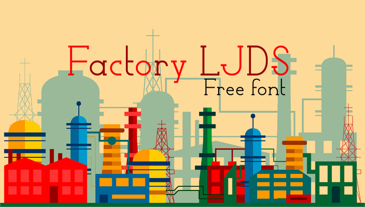 Factory DS Free Font